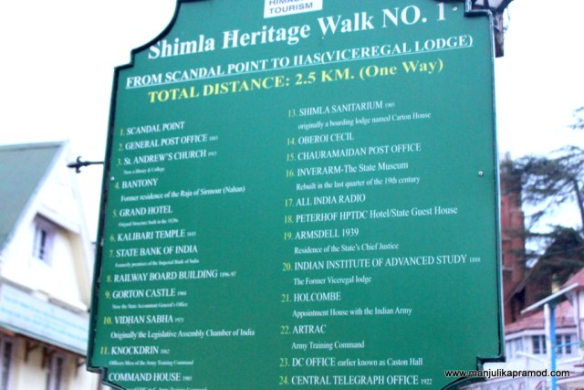 Heritage walk in Shimla - This one can be done on your own at your own convenience.