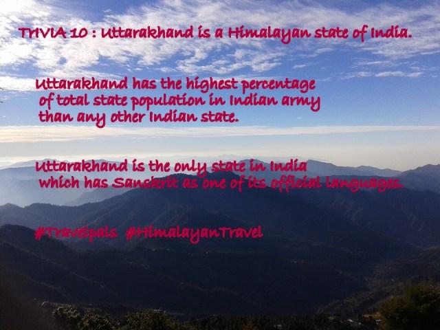 Uttarakhand, Travel Trivia, Ask us about Himalayas