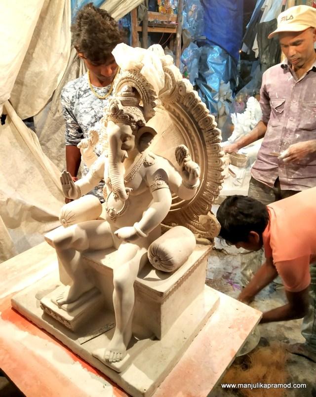 Ganesha idols in clay