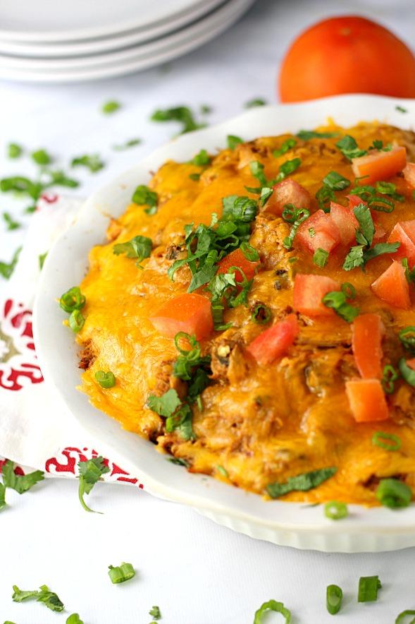 Chicken Tamale Pie|www.mannaandspice.com