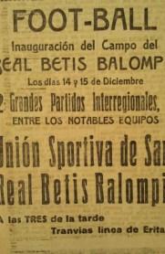 Anuncio Betis-U.S. Sants 1924