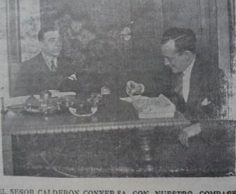 Entrevista Ricardo Calderón 1931