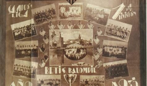 Ayuntamiento Sevilla.-Recepción Betis Balompié Campeón Liga 1934-1935.