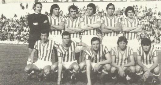 Alineación Betis-Córdoba Camp.Andalucía de Reservas 1976