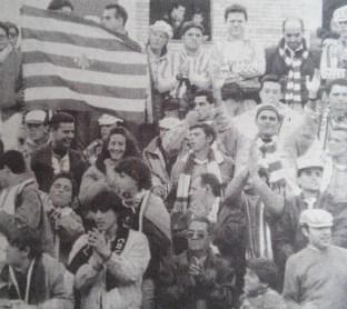 Afición bética en Mérida 1991