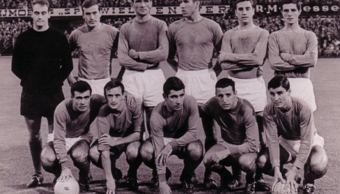 Alineación Feyenoord-Betis amistoso 1964