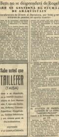"""1967-Julio 10-Hoja del Lunes: """"El Real Betis Balompié no se desprenderá de ROGELIO"""".-48Aniversario"""
