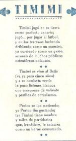 Los valores del Betis 1935. Poesía a Timimi