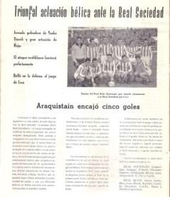 1960-Noviembre 06.-Triunfal actuación bética ante la Real Sociedad.