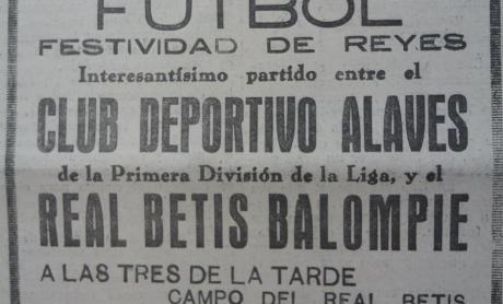 Betis-Alavés Amistoso 1931