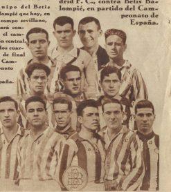 1931-Mayo 24.-Copa España-Ida.-Betis Balompié-3 Madrid Cf-0.-85Aniversario.