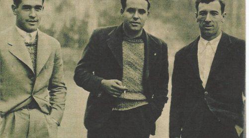 """1935-Marzo 10 en Barakaldo.-""""Los nuevos internacionales: Areso-Aedo, o un éxito rápido""""."""