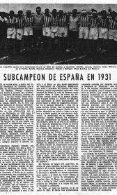 Subcampeón de España en Madrid-domingo 21 de Junio de 1935.-85ºAniversario.