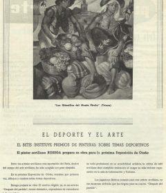 """1960-Agosto.-""""Verde y Blanco nº1"""".-""""El Deporte y el Arte"""": Real Betis Balompié."""