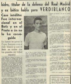 Las Figuras que dejan Huellas-Verdiblanco.-ISIDRO Sánchez García-Figueras.
