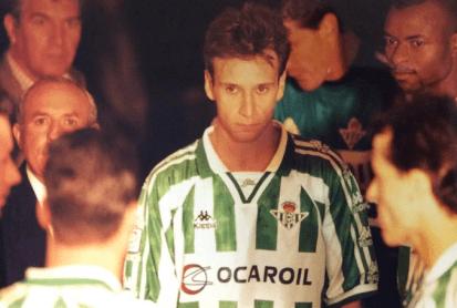 Túnel de vestuarios. Final Copa 1997