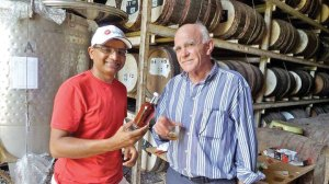 Prakash and master distiller Vittorio Capovilla in Marie-Galante