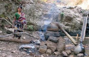 Hooch queen Nupur at her illegal distillery