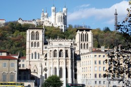 The Cathedrale Saint-Jean-Baptiste de Lyon is located in Vieux Lyon, the original medieval city