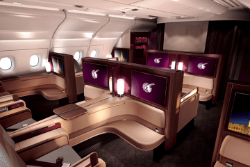 The A380 First Class cabin