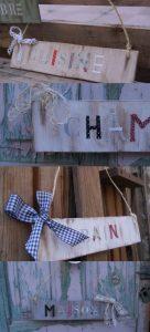 Carteles de madera recuperada