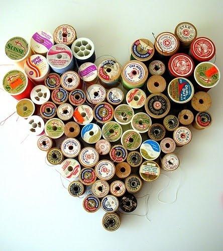 Reciclar carretes de hilo