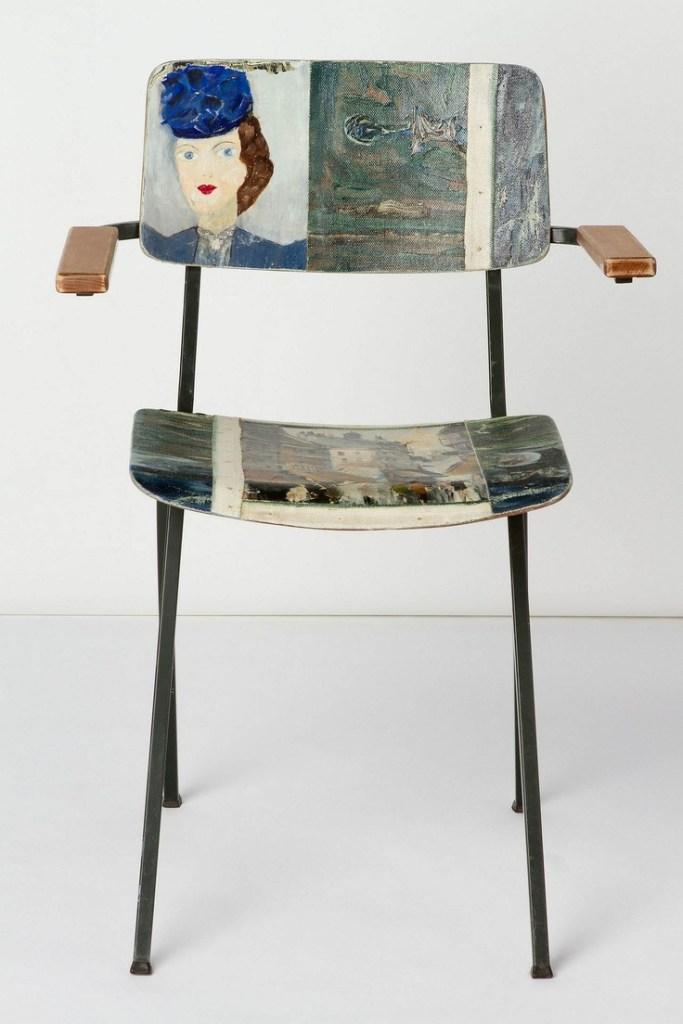 Muebles reciclados: sillas originales baratas pintadas con motivos