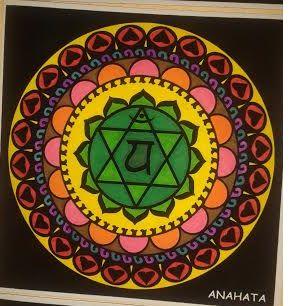 Mandala pintado: 'Anahata, el cuarto chakra'