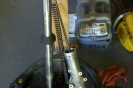 1970 Honda CB450 Front Fork Disassesembled