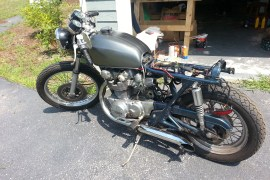 Honda CB450 - Still needs seat, frame repaint, and front brake.