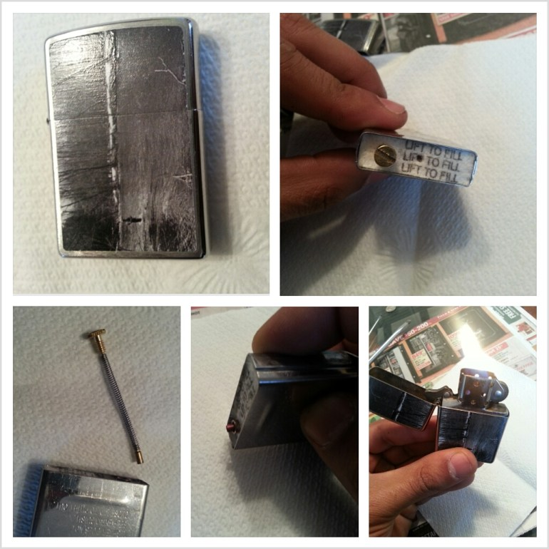 Replacing Zippo Lighter Flint