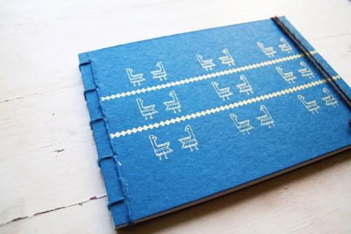 Twin Gallinella Gold Notebook