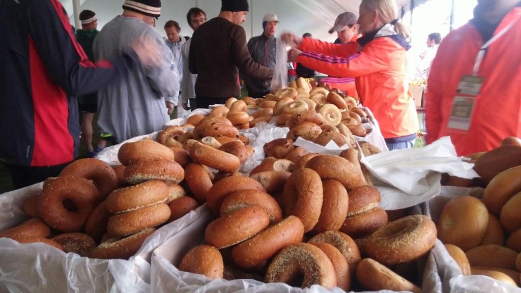 Boston Marathon bagels
