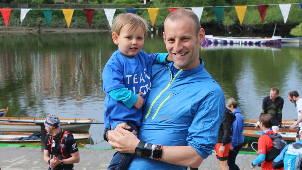Thames Path Ultra with my son
