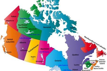 map canada provinces capitals