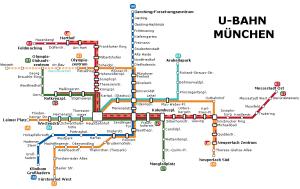 Munich metro map 2015