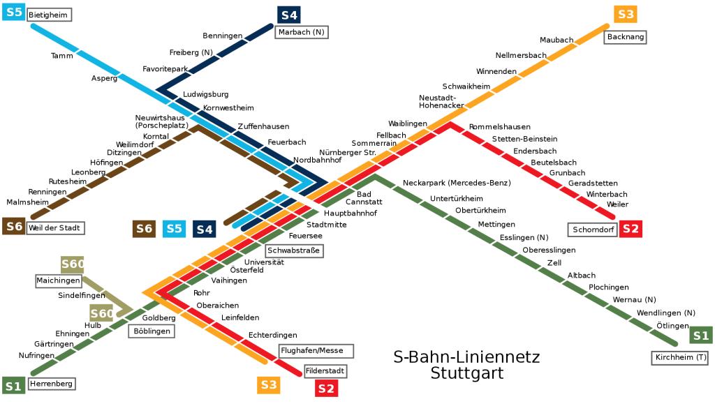 Карта Метро Штутгарт
