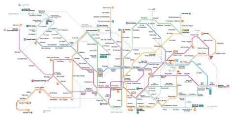 Mapa metro Barcelona 2016