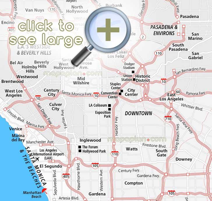 map venice santa