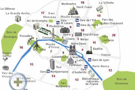 paris top tourist attractions map 11 visitor points of interest