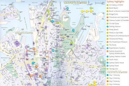 Map and travel planner sydney top tourist attractions map 04 four day trip highlights route planner itinerary list interesting sites gumiabroncs Choice Image