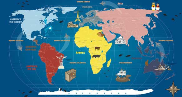 Mapa Mundi Infanto Juvenil