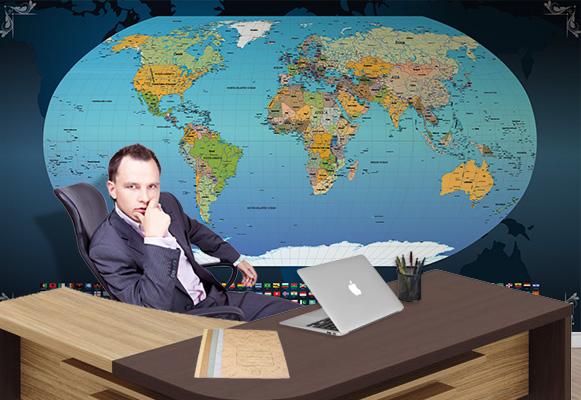 Papel de Parede Mapa Mundi Aplicação