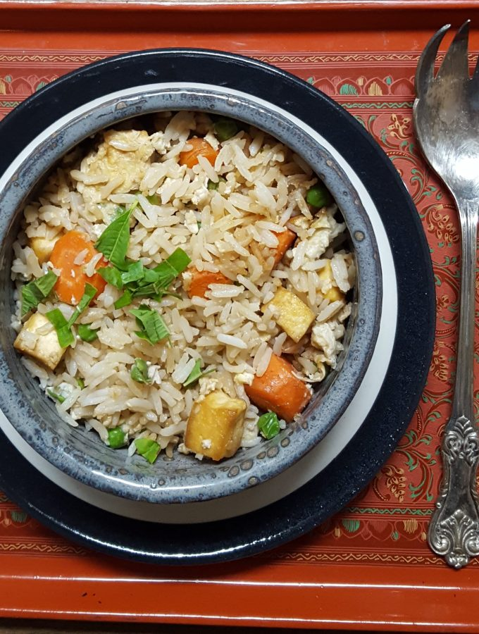 #CleanYourFridge Easy Fried Rice Recipe   Vegetarian with Tofu   Nourishing Fast food at it's best   Quick and easy weeknight Dinner   MapleandMarigold.com