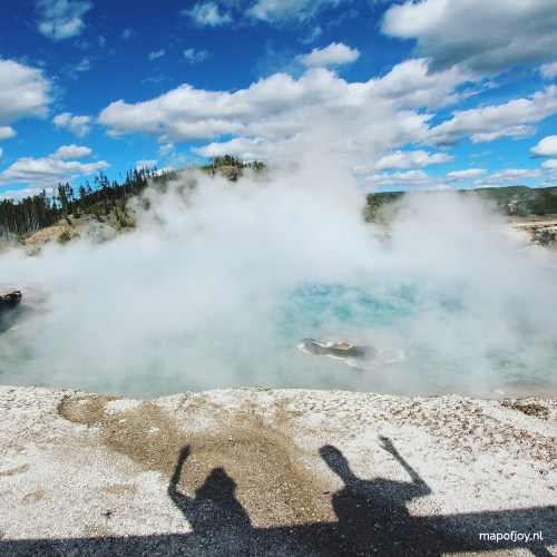 Yellowstone, USA, Grand Prismatic Spring - Map of Joy
