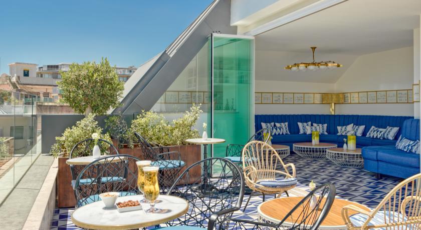 5x special places to stay in Lisbon, Portugal. H10 Duque de Loule - Map of Joy