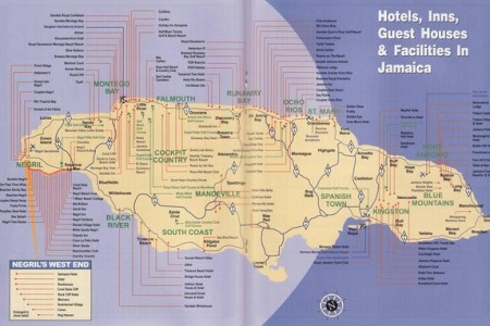 Jamaica Political Map Politics And Current Affairs - Jamaica political map 1968
