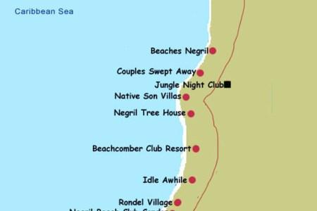 negril coastal map