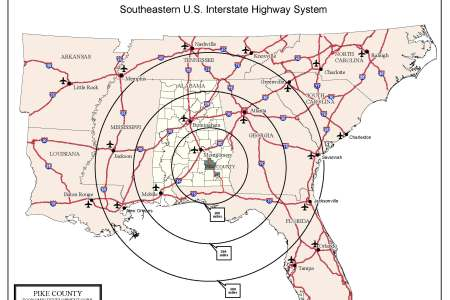 southeastern us map southern and central united states