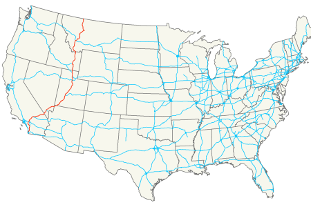 united states interstate map mappery